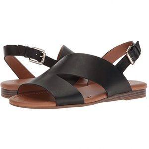 Franco Sarto Garza Leather Sling Back Sandals 8.5